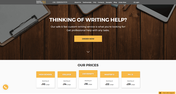 PaperHelpWriting Writing Service Review by TopEssayCompanies