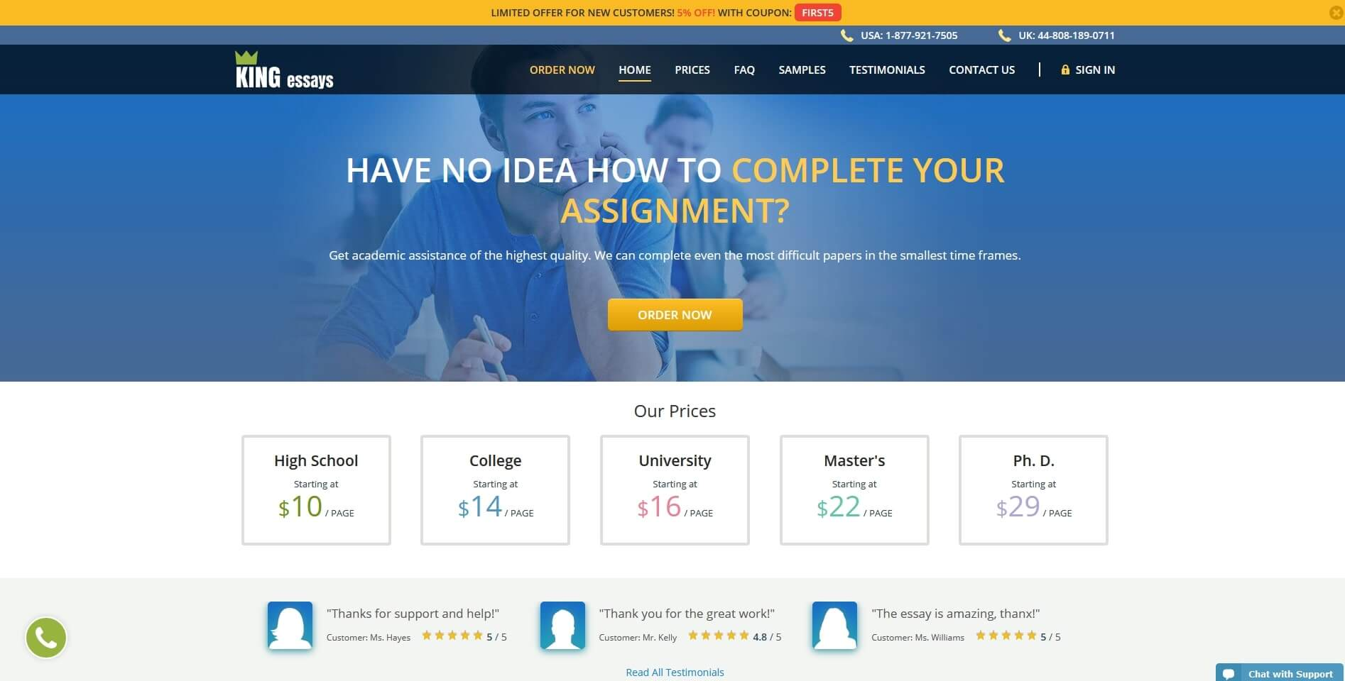 Kingessays.com Writing Service Review by TheLegitEssay